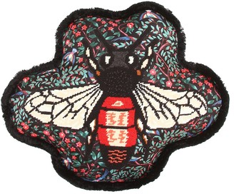 Gucci Bee embroidered silk cushion