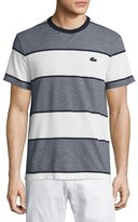Lacoste Heather Striped T-Shirt, Bleu Marine
