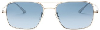 The Row X Oliver Peoples Victory La Square Sunglasses - Light Blue