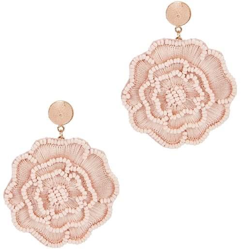 BaubleBar Melvina Blush Floral Drop Earrings