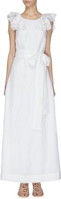 Kalita 'Eros' ruffle sleeveless gown