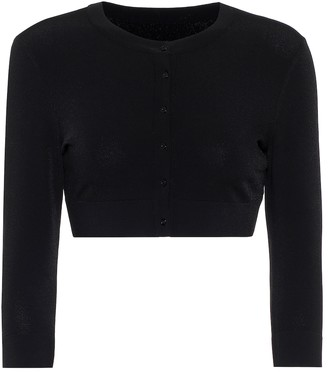Alaia Cropped stretch-knit cardigan