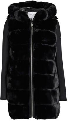 Derek Lam 10 Crosby Hooded Faux Fur Puffer Coat
