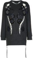 Diesel Black Gold velvet patchwork sweatshirt