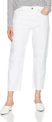 G Star Women's 3301 Mid Waist Boyfriend Ripped Jeans