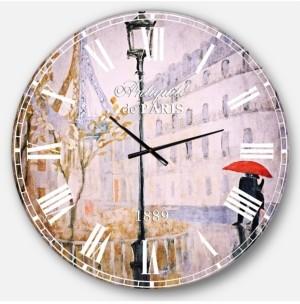 Design Art Designart Romantic French Country Oversized Metal Wall Clock