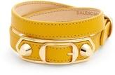 Balenciaga Metallic Edge wraparound leather bracelet
