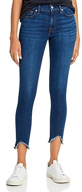 7 For All Mankind Frayed Skinny Ankle Jeans in Fletcher Drive