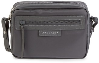 Longchamp Leather-Trim Nylon Shoulder Bag