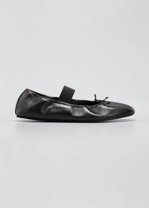Marni Leather Mary Jane Ballerina Flats