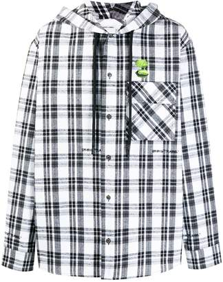 Off-White hooded check shirt jacket