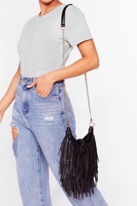 Nasty Gal Womens WANT You're Making Me Fringe Crossbody Bag - Black - One Size