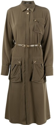 Versace Safari midi shirtdress