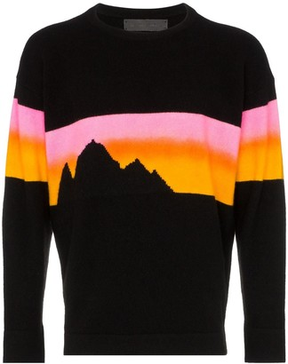 The Elder Statesman Alpine Sunset Cashmere Jumper