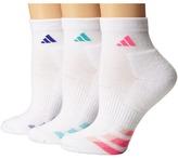 adidas Cushion Variegated 3-Pair Quarter Sock Women's Quarter Length Socks Shoes