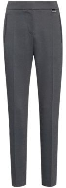 HUGO BOSS Micro Patterned Relaxed Fit Cigarette Pants With Hardware Trim - Black