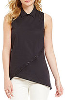 Antonio Melani Duchess Point Collar Sleeveless Blouse