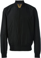 Versace zip-up bomber - men - Cotton/Polyester/Spandex/Elastane - 48