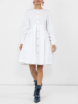 Calvin Klein Flared Shirt Dress White