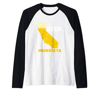 State CA California Drinking Home Love Beer Murrieta City Raglan Baseball Tee