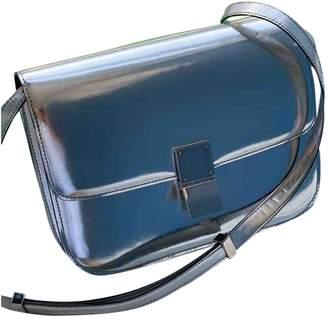 Celine Classic Silver Patent leather Handbags