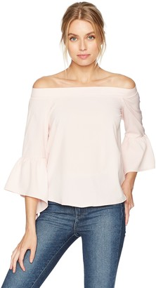Lucca Couture Women's Parker Off The Shoulder Trumpet Sleeve Top