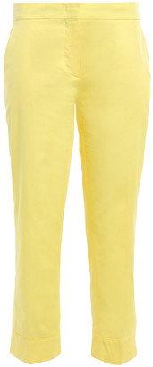 Emilio Pucci Cropped Cotton-poplin Slim-leg Pants