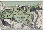 Prada Printed Textured-leather Cardholder