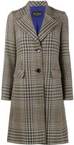 Etro wide collar check coat - women - Silk/Viscose/Wool - 38