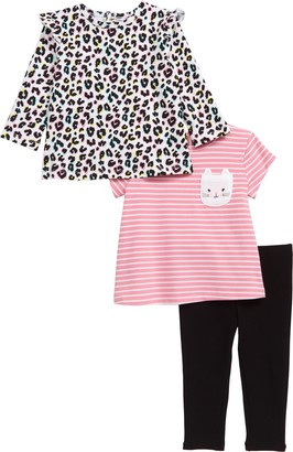 Little Me Kitty Tunic, Tee & Leggings Set