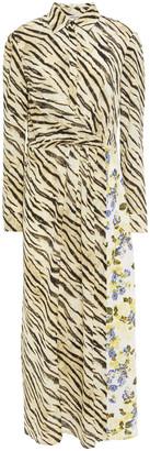 Baum und Pferdgarten Alham Paneled Printed Crepe Midi Dress