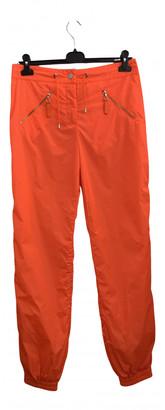 Chanel Orange Cloth Trousers