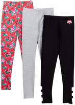Betsey Johnson Floral PrintSolid Leggings - Pack of 3 (Toddler Girls)