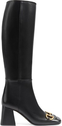 Gucci Horsebit-embellished knee-high boots