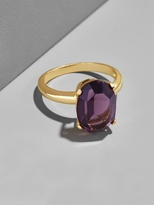 BaubleBar Amethyst Cocktail Ring-7
