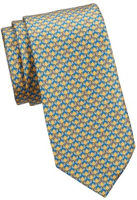 Saks Fifth Avenue COLLECTION Butterly-Print Silk Tie