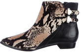 Derek Lam 10 Crosby Ponyhair Pointed-Toe Ankle Boots