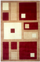 Momeni Area Rug, Perspective NW50 Square Dance Red 8' x 11'