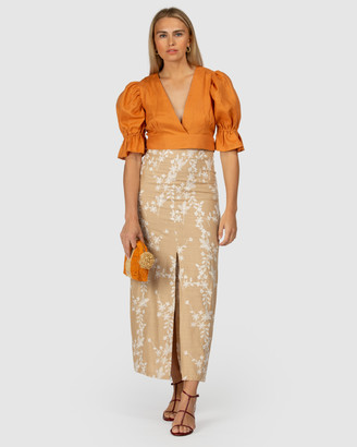 The Wolf Gang Fes Embroidered Maxi Skirt