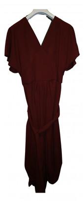 Jacquemus Le Souk Burgundy Wool Dresses