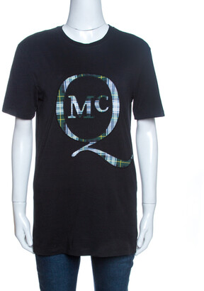 McQ Black Logo Patch Detail T-Shirt XS