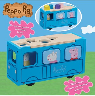 Peppa Pig Peppa's Wooden Play School Bus Shape Sorter