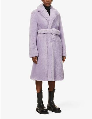 Bottega Veneta Belted shearling coat