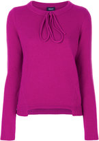 Armani Jeans lace-up neck jumper