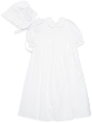 Kissy Kissy Baby Girl's Two-Piece Gown & Hat Set