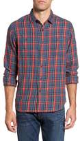 Grayers Men's Trent Modern Fit Slubbed Windowpane Sport Shirt