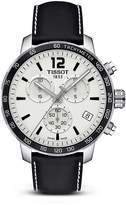 Tissot Quickster Men's Quartz Chronograph Black and Silver Dial Watch, 42mm