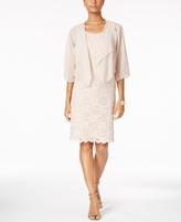 Jessica Howard Petite Shimmer Lace Sheath Dress & Chiffon Jacket