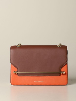 Strathberry Crossbody Bags East / West Handbag In Tricolor Leather