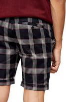 Topman Check Print Skinny Fit Shorts